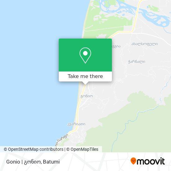 Gonio   გონიო map