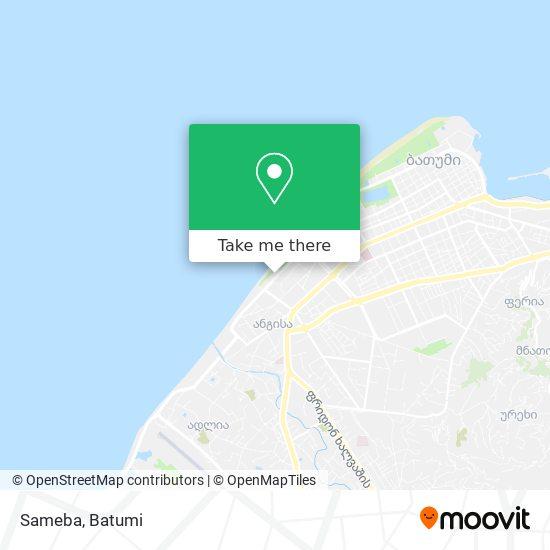 Sameba map