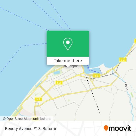 Beauty Avenue #13 map