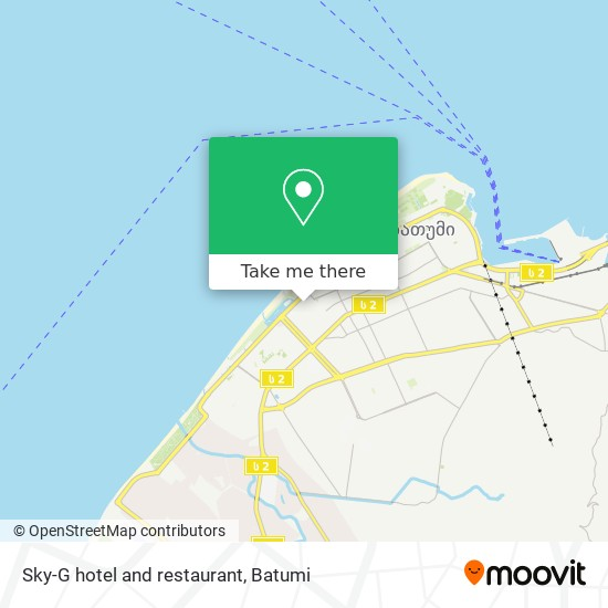 Sky-G hotel and restaurant map