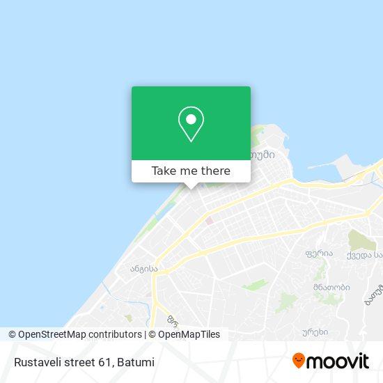 Rustaveli street 61 map