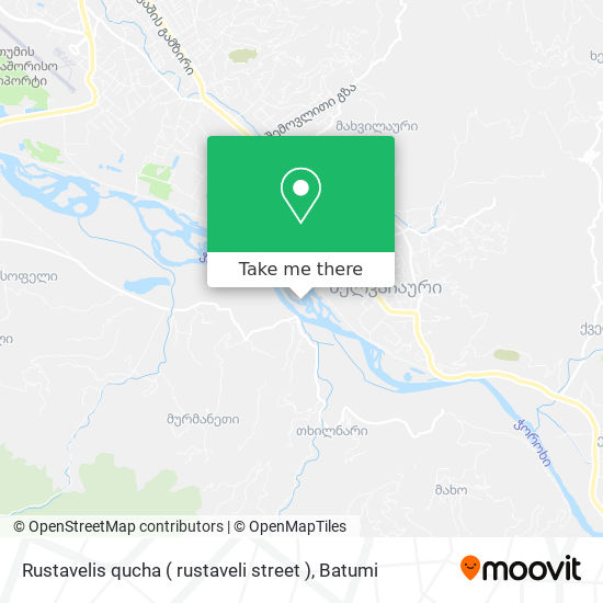 Карта Rustavelis qucha ( rustaveli street )