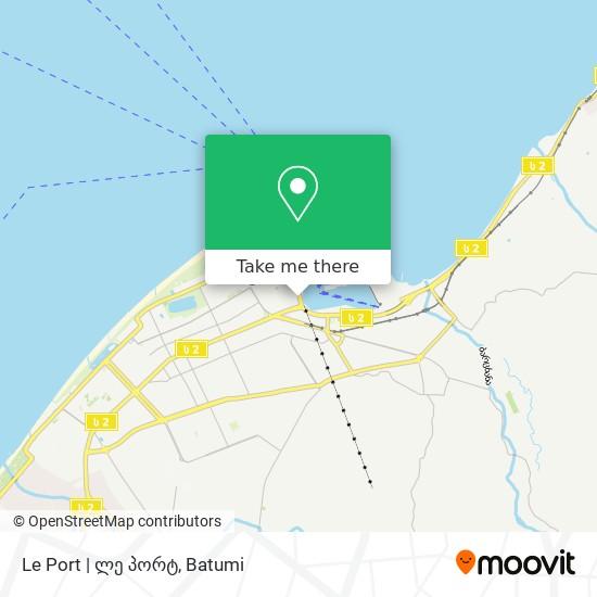 Le Port | ლე პორტ map