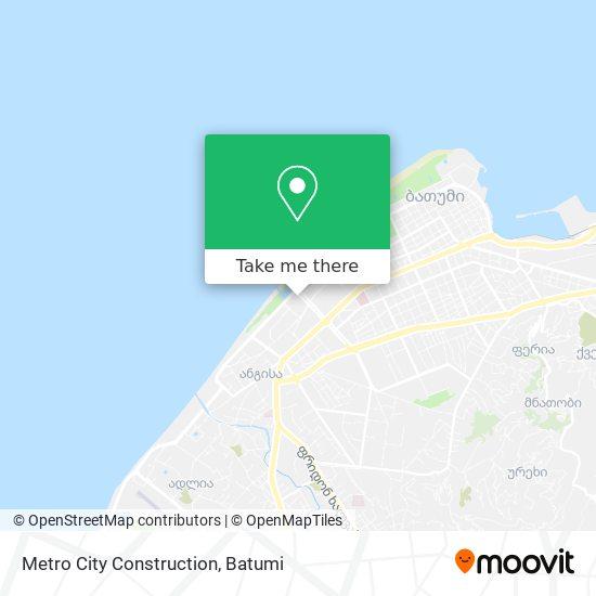 Metro City Construction map