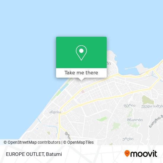 EUROPE OUTLET map