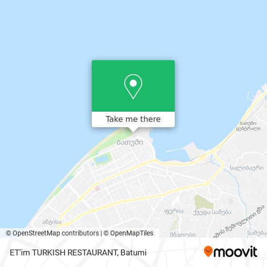 ET'im TURKISH RESTAURANT map