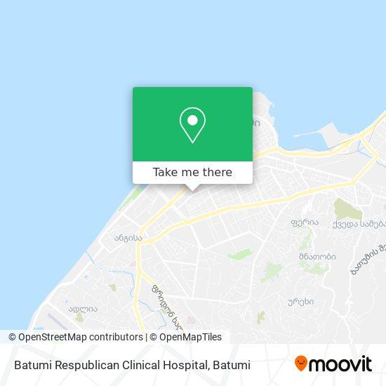 Batumi Respublican Clinical Hospital map