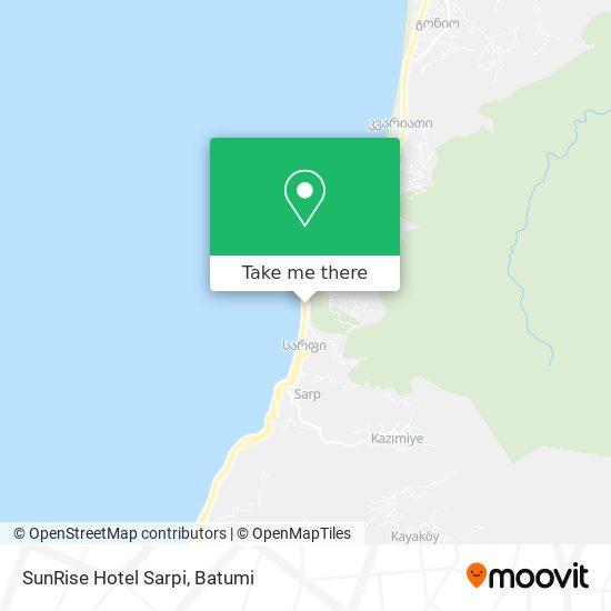 SunRise Hotel Sarpi map