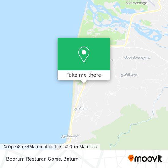 Bodrum Resturan Gonie map