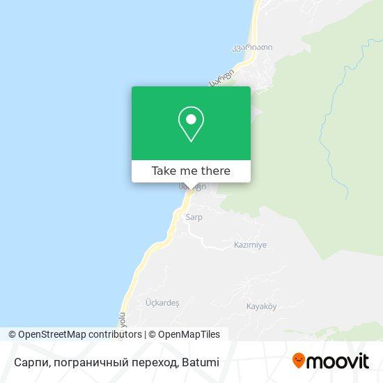 Сарпи, пограничный переход map
