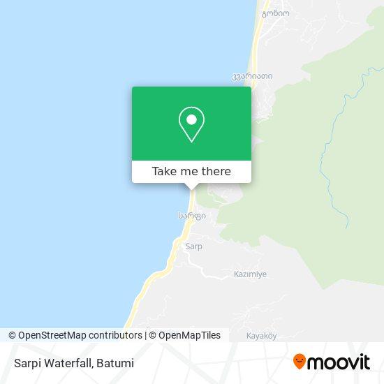 Sarpi Waterfall map