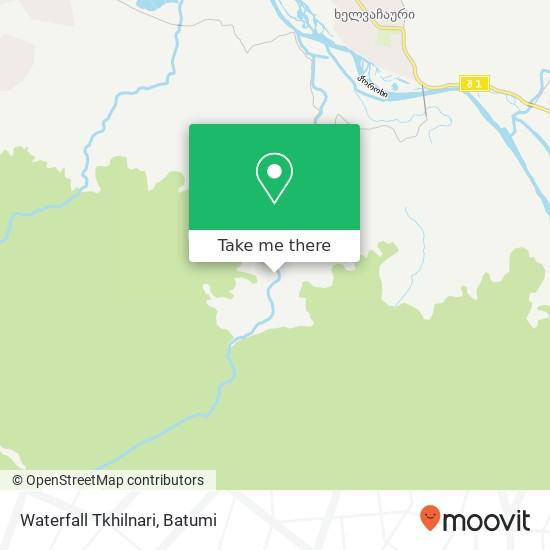Waterfall Tkhilnari map