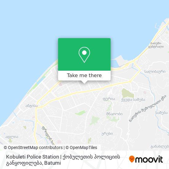 Kobuleti Police Station   ქობულეთის პოლიციის განყოფილება map