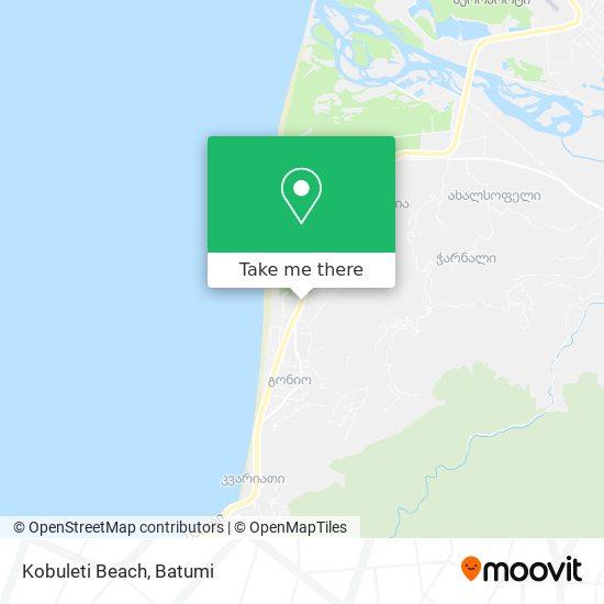 Kobuleti Beach map