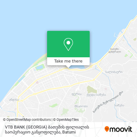 VTB BANK (GEORGIA) ბათუმის ფილიალის საოპერაციო განყოფილება map