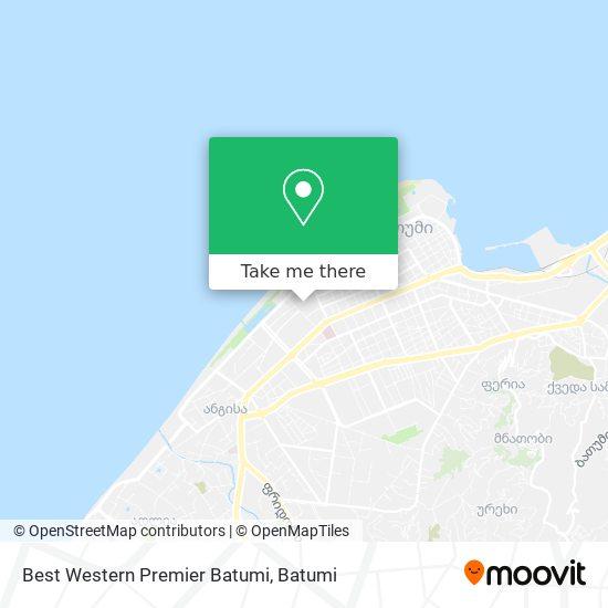 Best Western Premier Batumi map