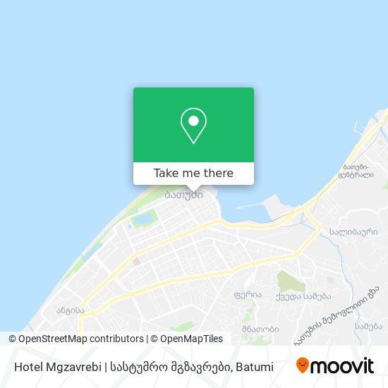 Hotel Mgzavrebi | სასტუმრო მგზავრები map