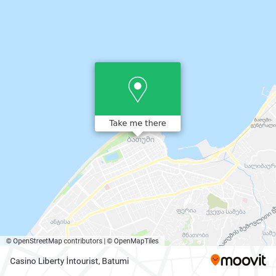 Casino Liberty İntourist map
