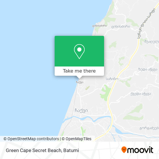 Green Cape Secret Beach map