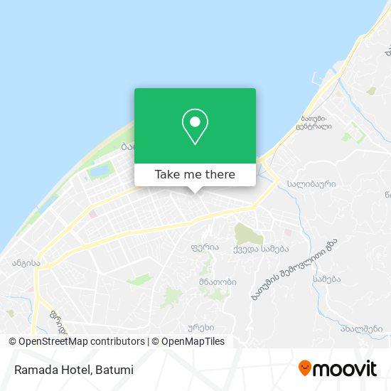 Ramada Hotel map