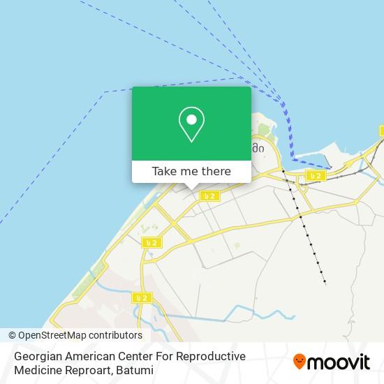 Georgian American Center For Reproductive Medicine Reproart map