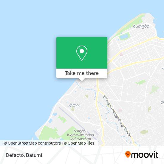 Defacto map