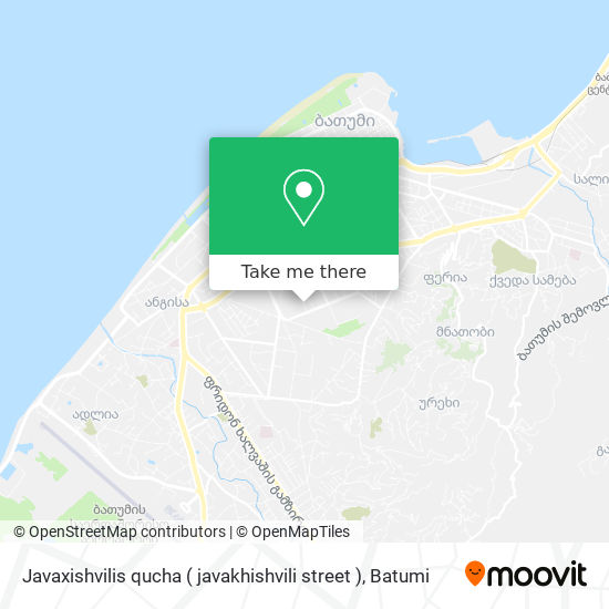 Javaxishvilis qucha ( javakhishvili street ) map
