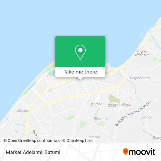 Карта Market Adelante
