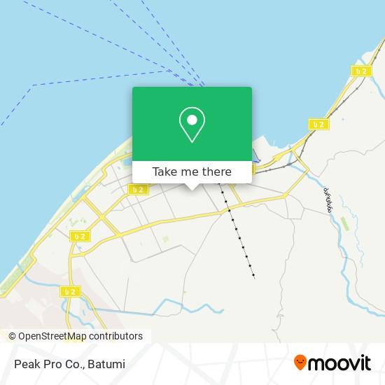 Карта Peak Pro Co.