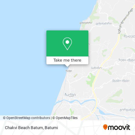 Карта Chakvi Beach Batum