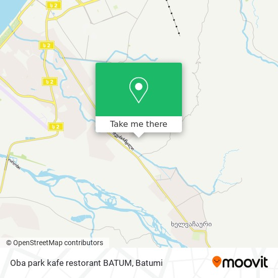 Карта Oba park kafe restorant BATUM