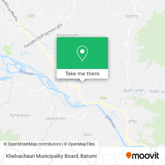 Khelvachauri Municipality Board map