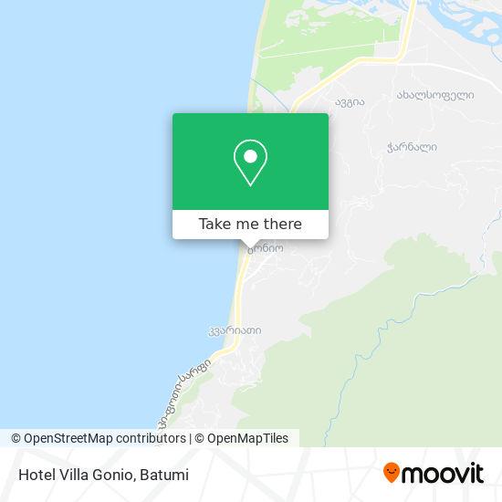 Карта Hotel Villa Gonio