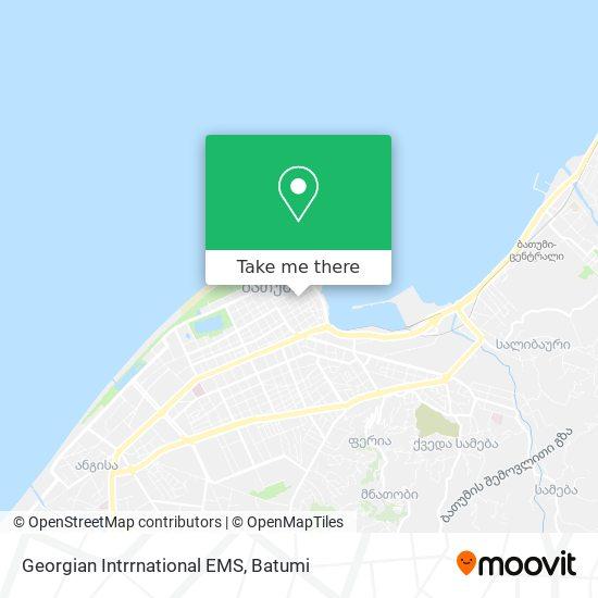 Карта Georgian Intrrnational EMS