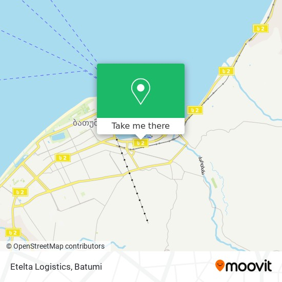 Etelta Logistics map