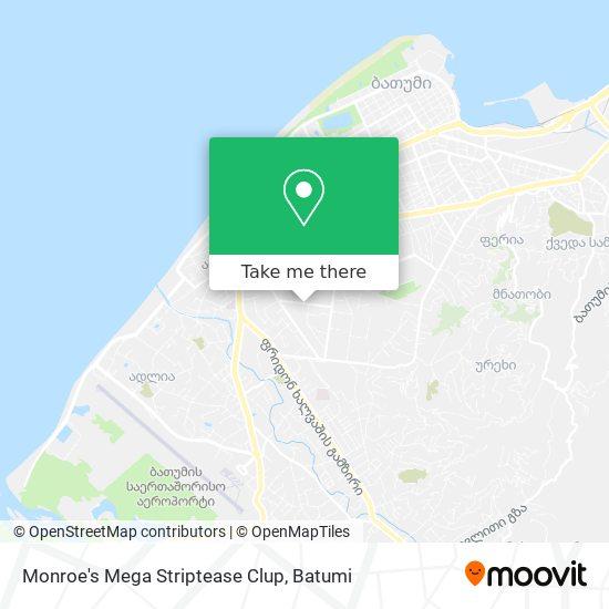 Monroe's Mega Striptease Clup map