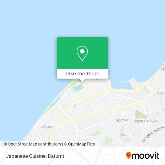 Карта Japanese Cuisine