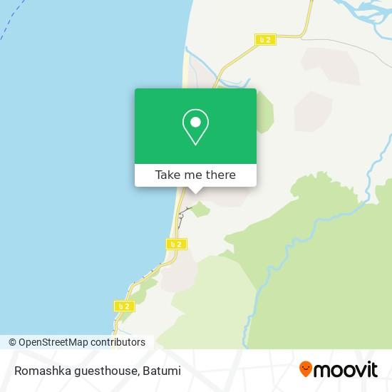 Карта Romashka guesthouse