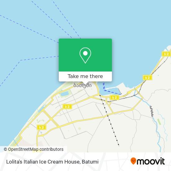 Lolita's Italian Ice Cream House map