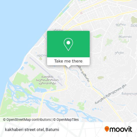 Карта kakhaberi street otel