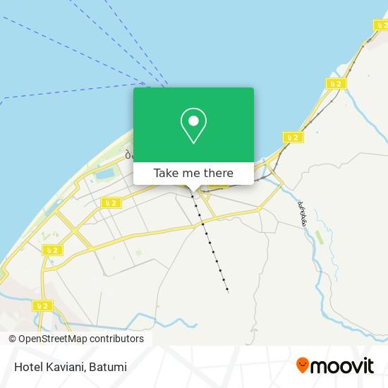 Карта Hotel Kaviani