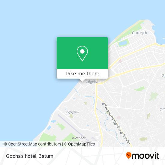Карта Gocha's hotel