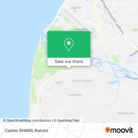 Карта Casino SHANS