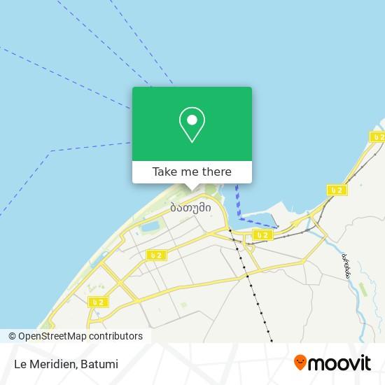 Le Meridien map