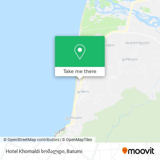 Карта Hotel Khomaldi ხომალდი