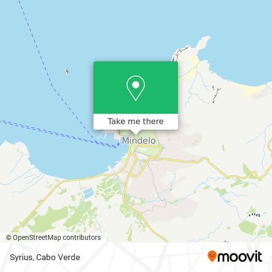 Syrius mapa
