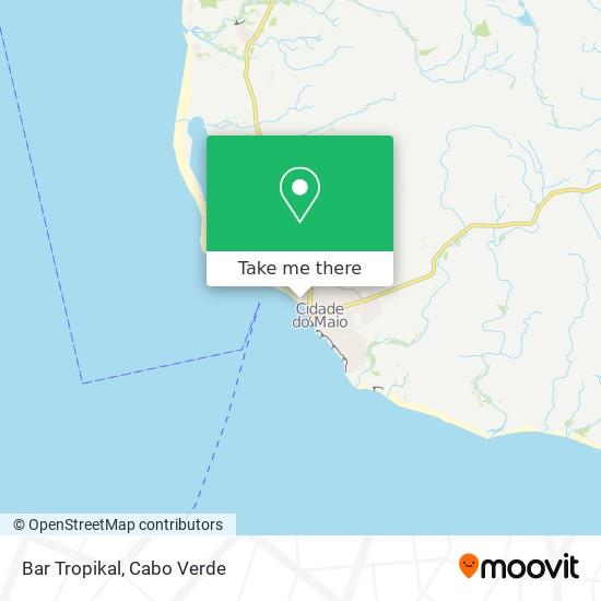 Bar Tropikal mapa