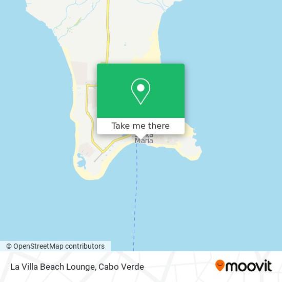 La Villa Beach Lounge mapa