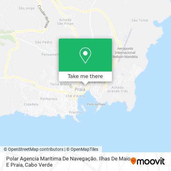 Polar Agencia Marítima De Navegação. Ilhas De Maio E Praia mapa