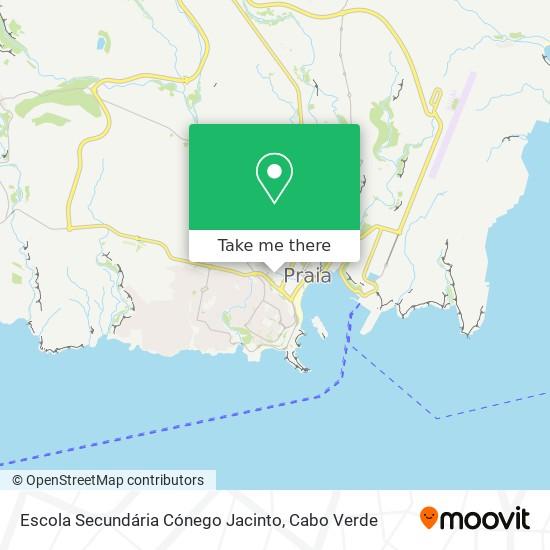 Escola Secundária Cónego Jacinto mapa